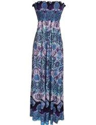 Hawaiian Smocked Tube Maxi Dress Junior Plus Size- Sundress