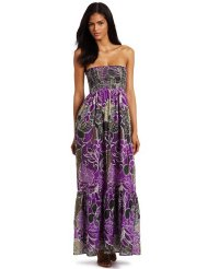 Just For Wraps Women's Tube Printed Smock Maxi - Womens Summer Dress