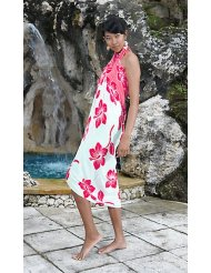 Summer Dress - Ladies' Hibiscus Flower Sarong by 1 World Sarongs - in your choice of color