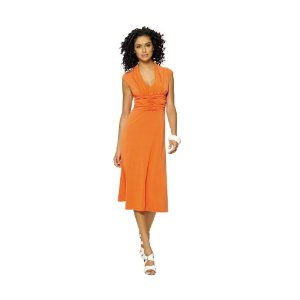 Cheap Summer Dress - Newport News Shirred V-neck dress