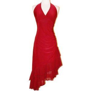 Cheap Summer Dress - Ruched Ruffle Holiday Party Cocktail Halter Dress