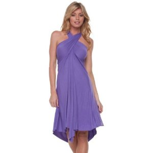 Cheap Summer Dress - Purple Convertible Dress or Skirt 4 Different Looks Made in USA