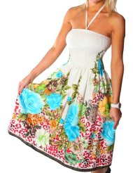 One-size-fits-all Tube Dress/Coverup - Leopard Rose (many colors) - Discount Summer Dresses