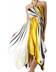 Sexy Colorful Printed Maxi Strapless Long Summer Sun Dress - Discount Summer Dresses