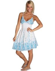 Alki'i Paisley Print Casual Evening Party Tube Cocktail Dress - Low Cost Summer Dresses