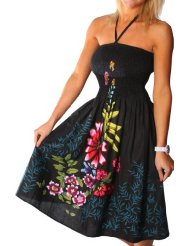 Discount Summer Dresses - One-size-fits-all Tube Dress/Coverup - Zinnia Ivy (many colors)