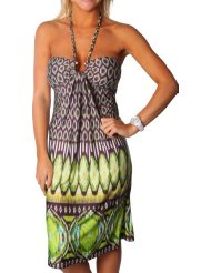Alki'i Honeycomb Print Casual Evening Party Cocktail Sun Dress - Inexpensive Summer Dress
