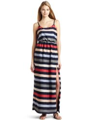 Long Summer Dresses - BCBGeneration Women's Striped High Slit Maxi Dress