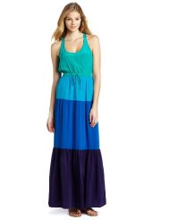 Twelfth St. by Cynthia Vincent Women's Color Block Maxi Dress - Long Summer Dress